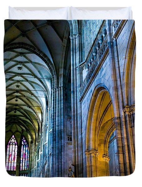 St Vitus Cathedral Duvet Cover by Dave Bowman