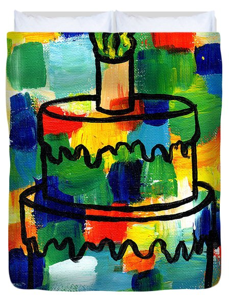 Stl250 Birthday Cake Abstract Duvet Cover