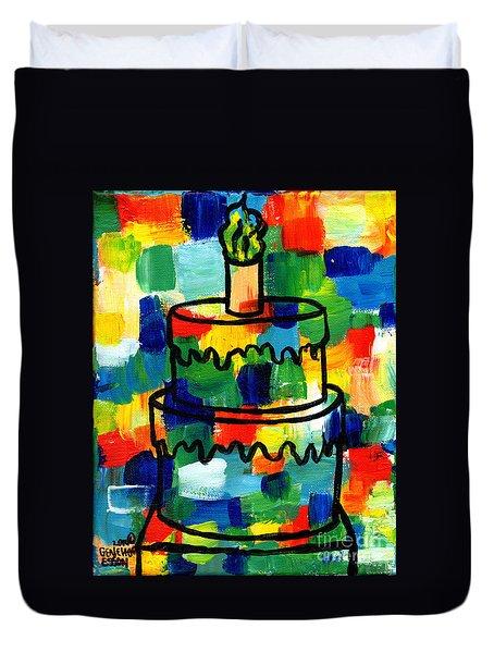 Stl250 Birthday Cake Abstract Duvet Cover