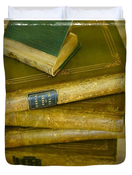 Stack Of Antique Books Duvet Cover by Don Hammond