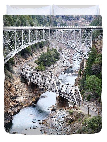 Stacked Bridges Duvet Cover