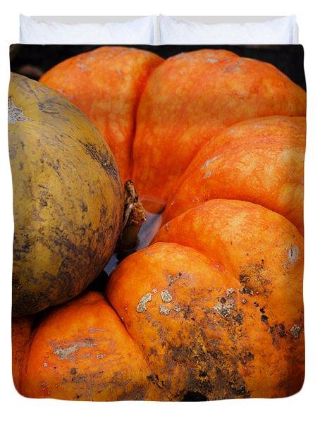 Stacked Pumpkins Duvet Cover