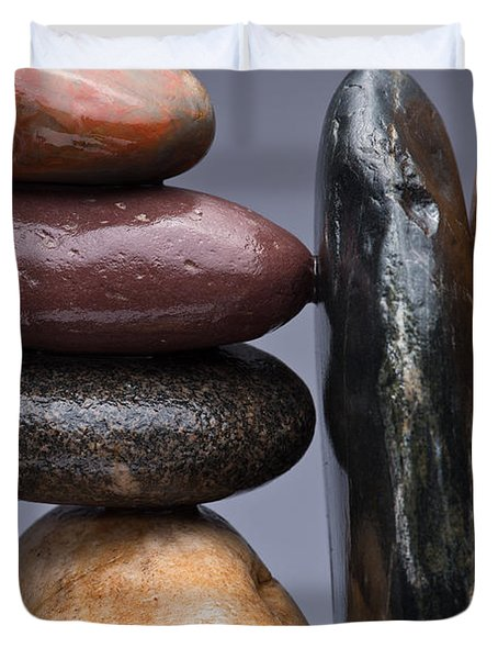 Stacked Stones 2 Duvet Cover by Steve Gadomski