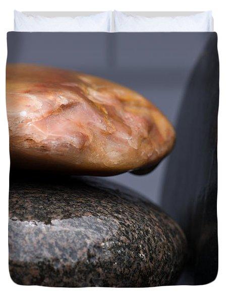 Stacked Stones 3 Duvet Cover by Steve Gadomski
