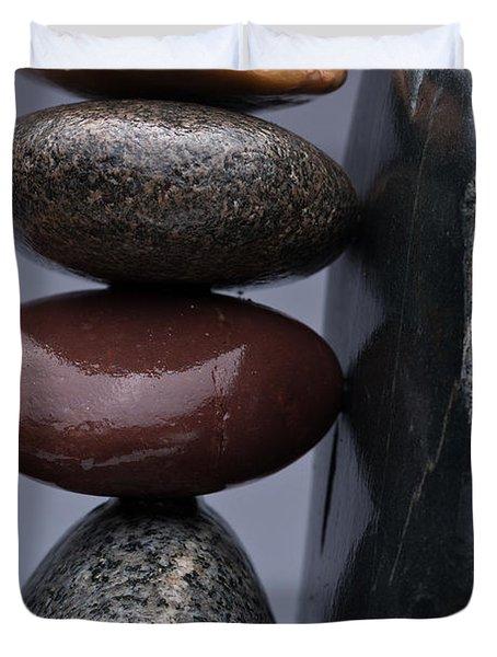Stacked Stones 5 Duvet Cover by Steve Gadomski