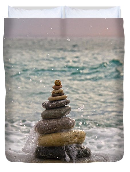 Stacking Stones Duvet Cover by Stelios Kleanthous