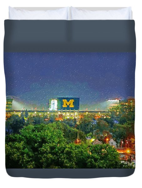 Stadium At Night Duvet Cover