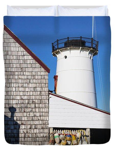Stage Harbor Light Duvet Cover