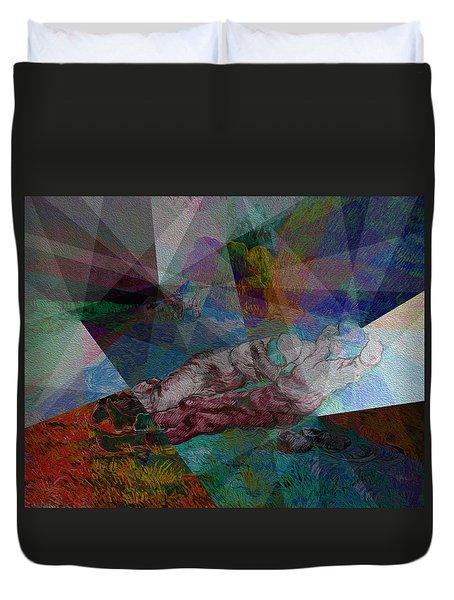 Stain Glass I Duvet Cover by David Bridburg