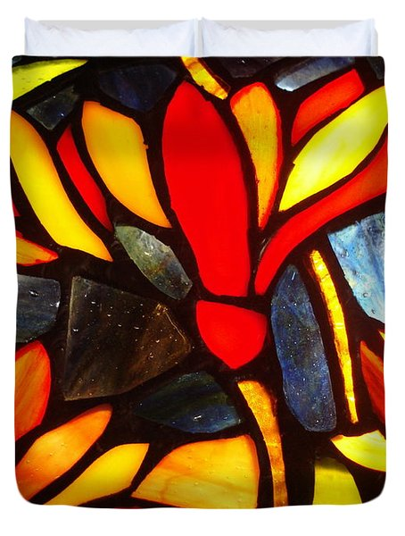 Stained Glass Eight Duvet Cover
