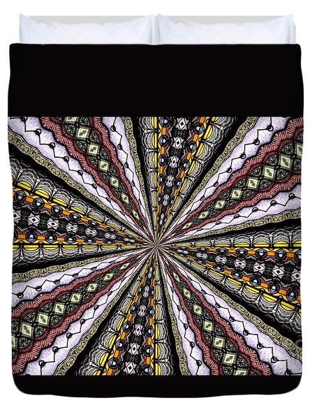 Stained Glass Kaleidoscope 1 Duvet Cover by Rose Santuci-Sofranko