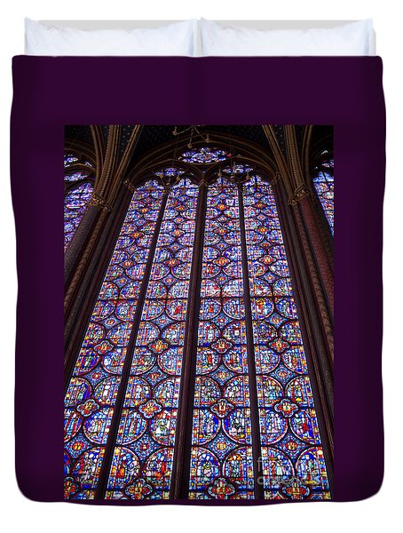 Stained Glass Magnificence Duvet Cover by Ann Horn