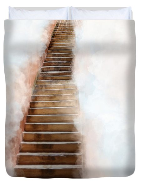 Stair Way To Heaven Duvet Cover