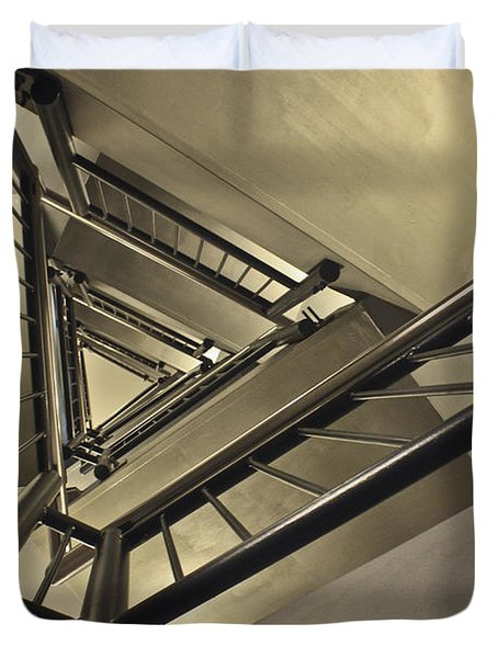 Duvet Cover featuring the photograph Stairing Up The Spinnaker Tower by Terri Waters
