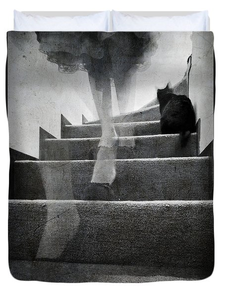 Duvet Cover featuring the photograph Stairs by Laura Melis