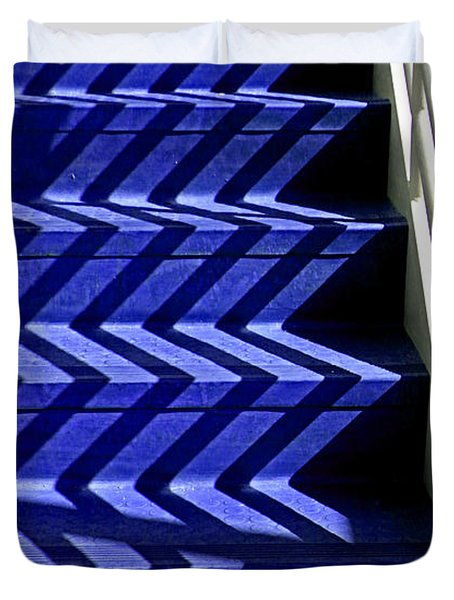 Stairs Of Blue Duvet Cover