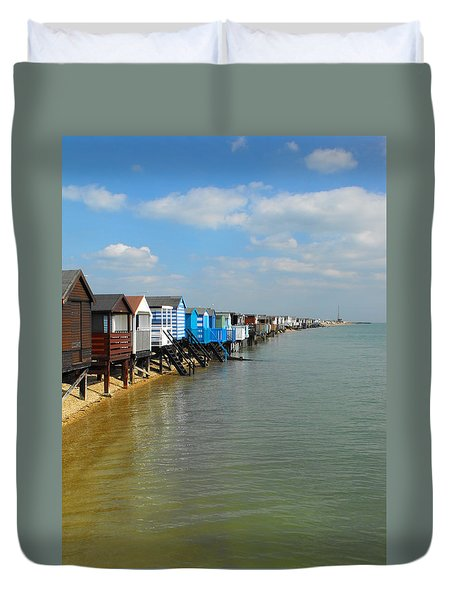 Stairs To Sea Duvet Cover