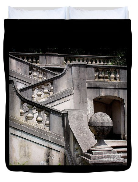 Stairway At Winterthur Duvet Cover