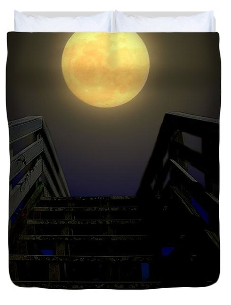 Stairway To Heaven Duvet Cover by Laura Ragland