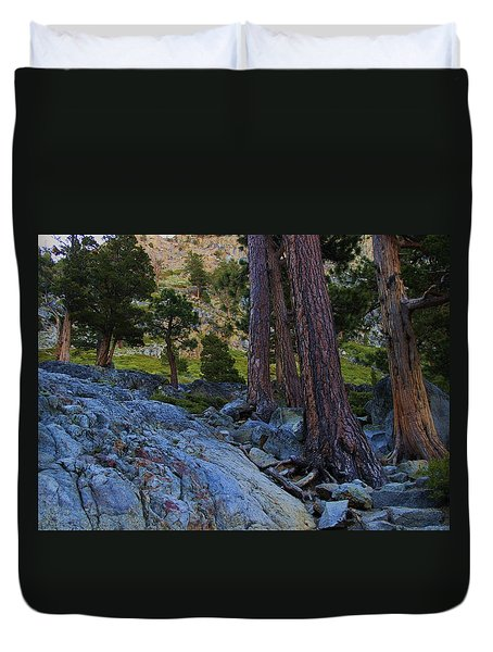 Duvet Cover featuring the photograph Stairway To Heaven by Sean Sarsfield