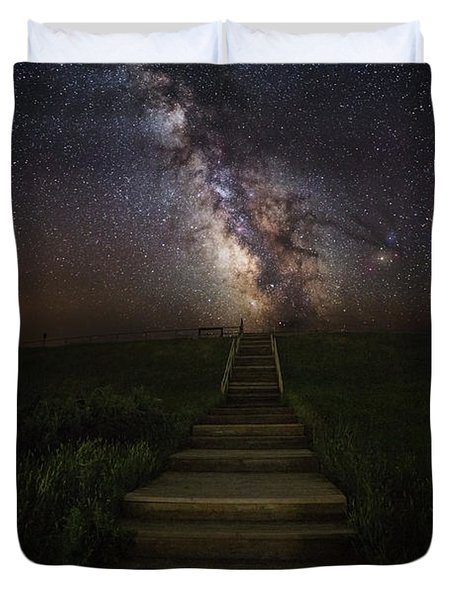 Stairway To The Galaxy Duvet Cover