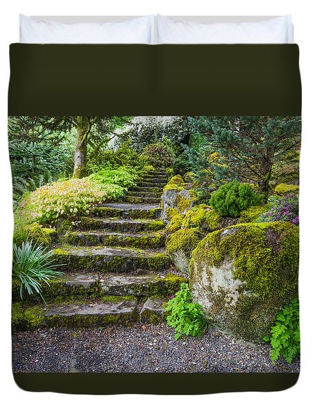 Stairway To The Secret Garden Duvet Cover