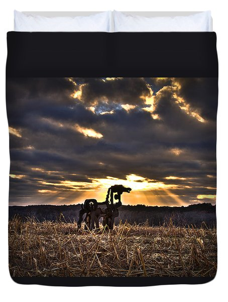 Stairways To Heaven The Iron Horse Duvet Cover