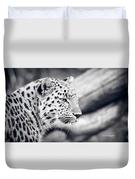 Duvet Cover featuring the photograph Stalking Prey by Stwayne Keubrick