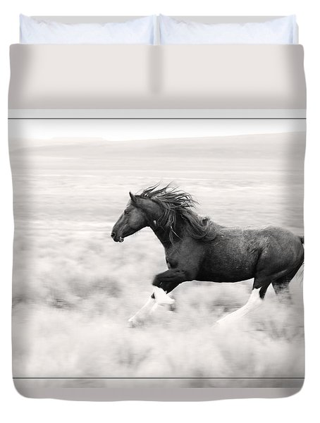 Stallion Blur D8785 Duvet Cover by Wes and Dotty Weber
