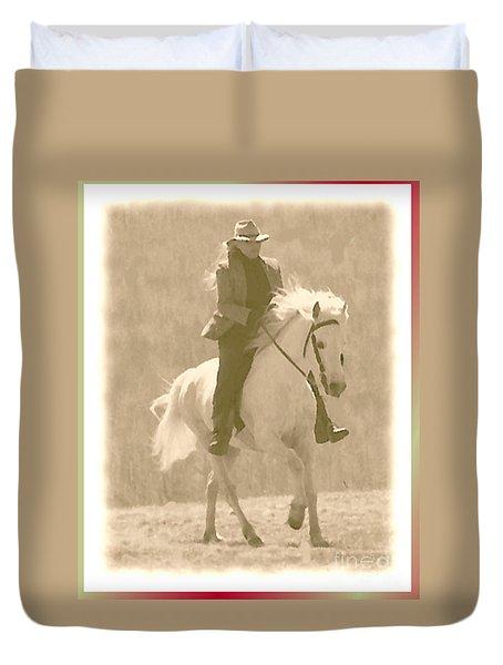 Stallion Strides Duvet Cover by Patricia Keller