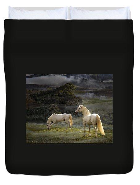 Stallions Of The Gods Duvet Cover