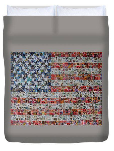 Stamps And Stripes Renegade Colony Duvet Cover by Gary Hogben