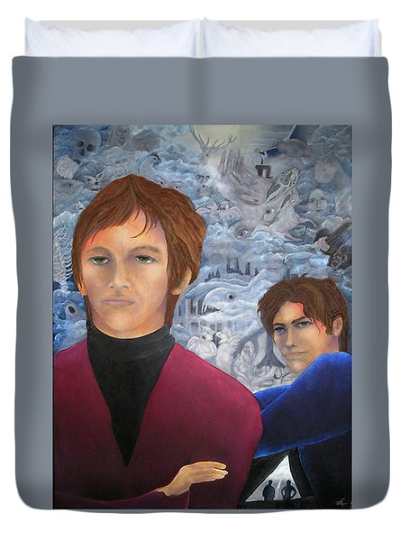 Stan And Larry Rice 1965 Duvet Cover
