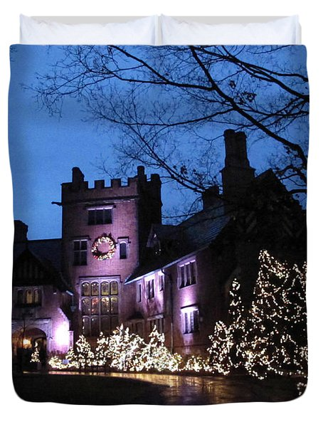 Stan Hywet Hall And Gardens Christmas  Duvet Cover by Joan  Minchak