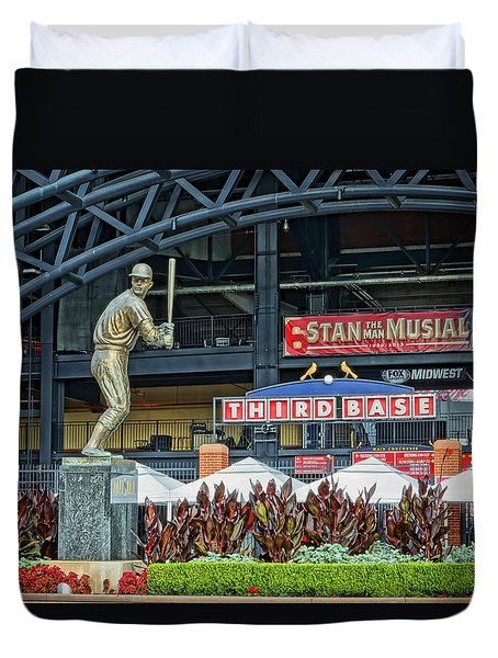 Stan Musial Statue At Busch Stadium St Louis Mo Duvet Cover