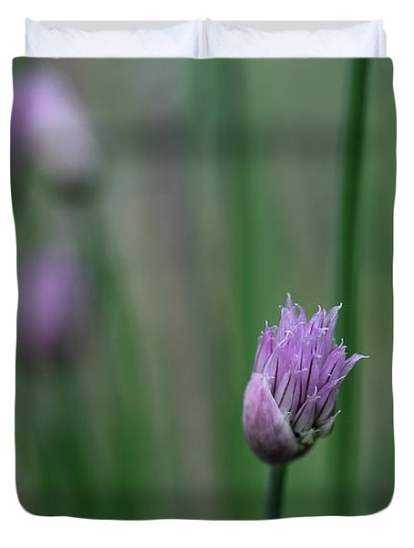 Duvet Cover featuring the photograph Not Just A Pretty Flower by Debbie Oppermann