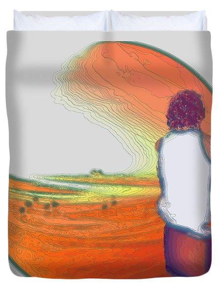 Stand By For Enlightenment Duvet Cover