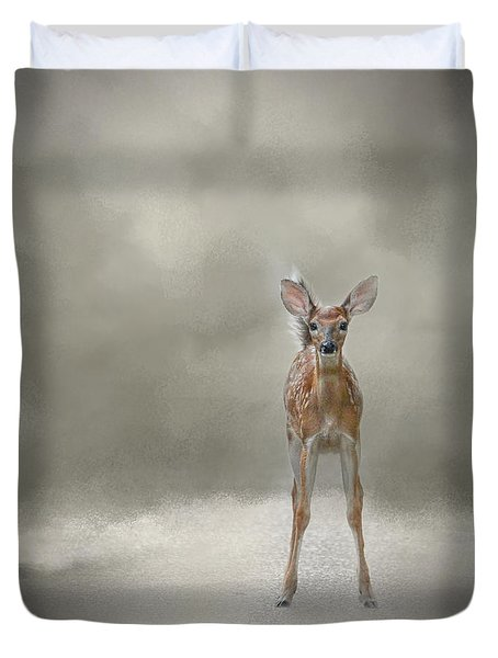 Stand Strong Little Fawn - Deer - Wildlife Duvet Cover