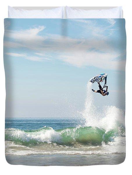 Stand Up Jet Ski Backflip Nac Nac Duvet Cover