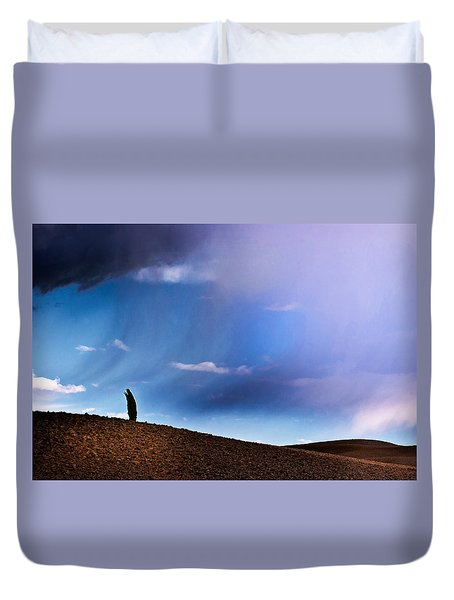 Standing Against The Wind Duvet Cover