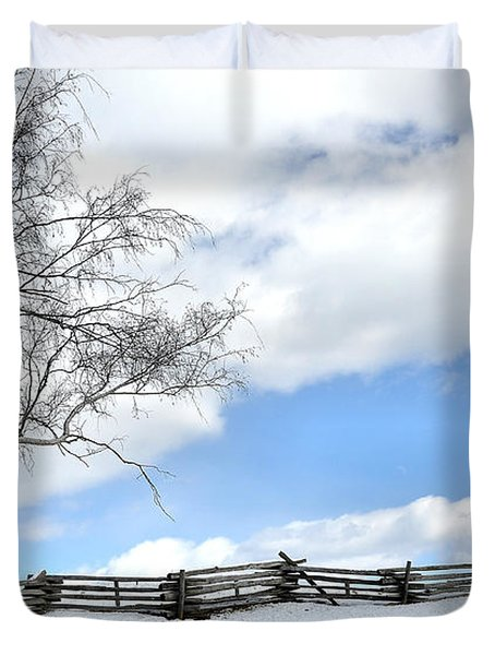 Standing Alone Duvet Cover by Todd Hostetter