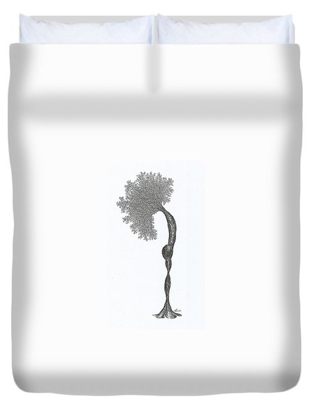 Standing Backward Bend Duvet Cover