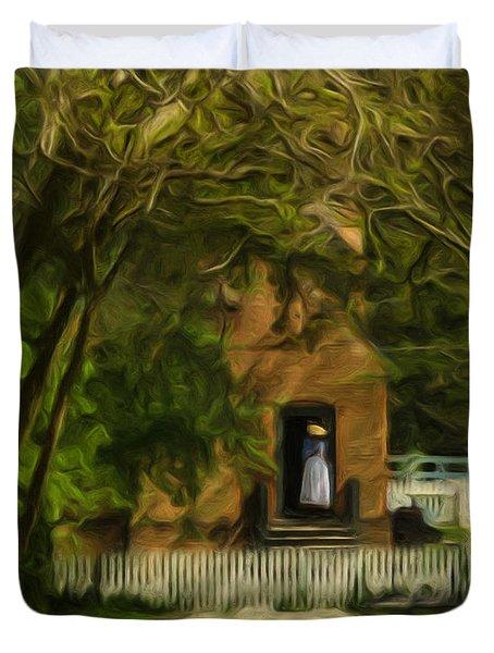 Standing In The Doorway Duvet Cover