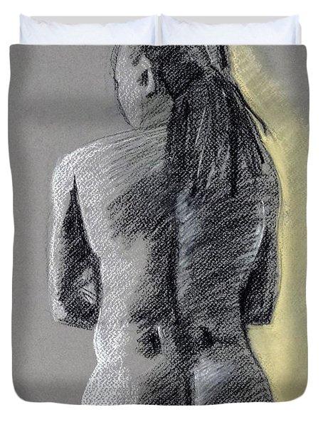 Standing Male Back Duvet Cover