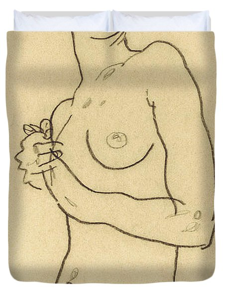 Standing Nude Duvet Cover