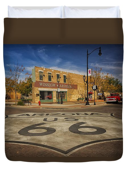 Standing On The Corner In Winslow Arizona Dsc08854 Duvet Cover