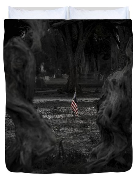 Duvet Cover featuring the photograph Standing Proud by Amber Kresge