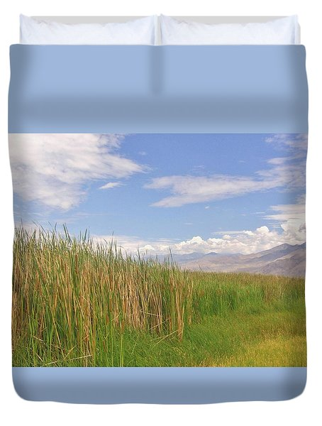 Duvet Cover featuring the photograph Standing Tall by Marilyn Diaz