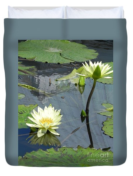 Duvet Cover featuring the photograph Standing Tall With Beauty by Chrisann Ellis