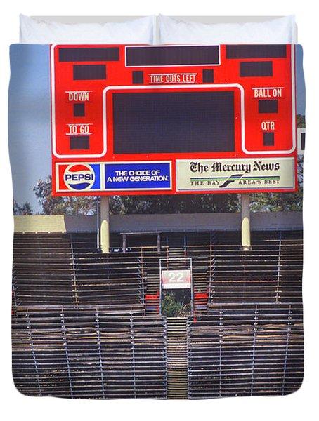 Stanford University Stadium In Palo Duvet Cover